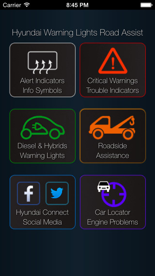 App for Hyundai Cars - Hyundai Warning Lights & Road Assistance - Car Locator hyundai vehicles and prices