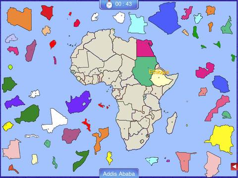 Africa Puzzle Map africa map quiz