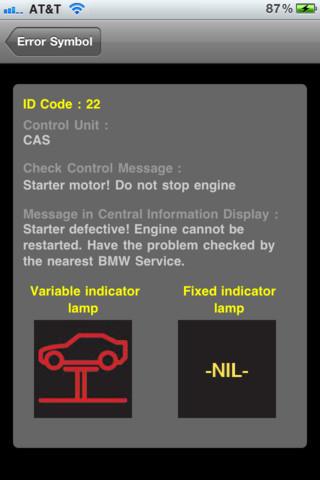 BMW Warning Lights