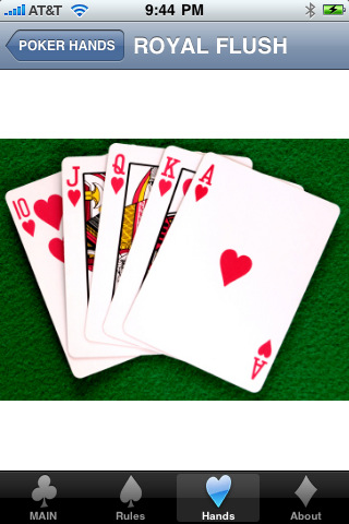 Poker show hand rules