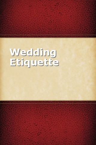 Wedding Etiquette etiquette for kids