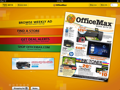 OfficeMax for iPad officemax