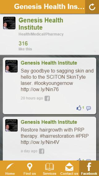 Genesis Health Institute health professionals institute