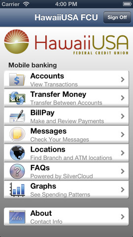 HawaiiUSA FCU Mobile Banking 2.4.4