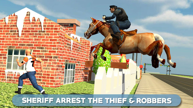 Police Horse Chase 3D - Sheriff Arrest the Thief & Robbers to Control the Town Crime Rate vermont crime rate