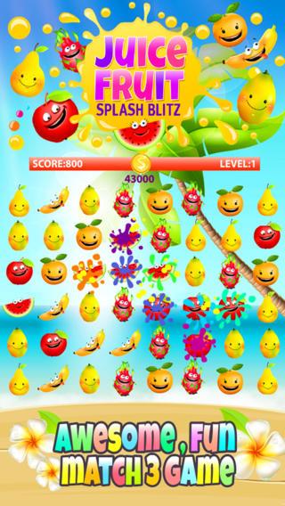 Alluring Juicy Fruity Splash Blitz Game FREE pristina