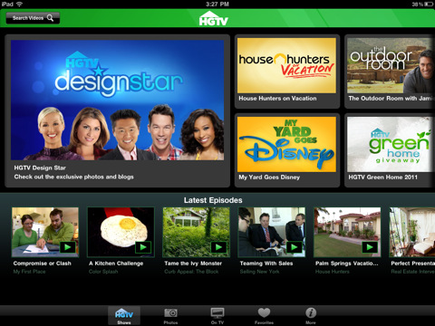 HGTV to GO for iPad hgtv shows