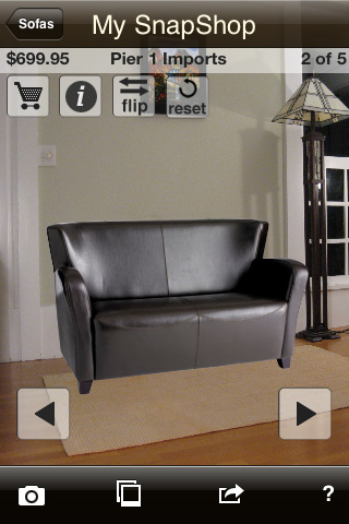 Snapshop showroom app for ipad iphone lifestyle Furniture apps for iphone