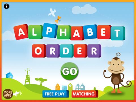Alphabetical Order App For IPad