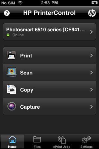 HP Printer Control