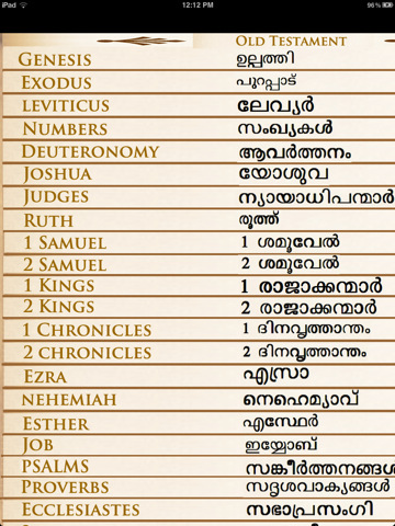 The Malayalam Bible 1.0 App for iPad, iPhone - Reference - app by