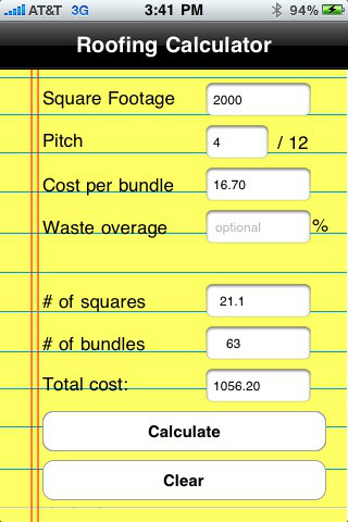 Roofing Calculator Roofing Estimate Calculator