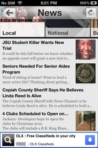 WJTV News Channel 12 App for iPad - iPhone - News