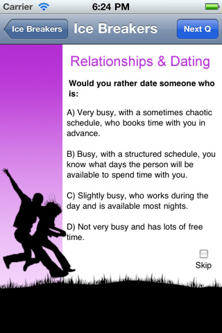 dating site icebreaker questions for dates Dating is meant to be fun people can sometimes over-think, over-analyze and over-complicate a simple fun human interaction when dating, it is usually a good idea to avoid topics like religion, politics and other potentially polarizing conversation topics.