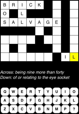 Crossword Scramble vinegary crossword