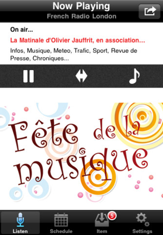 French Radio London websites for francophiles