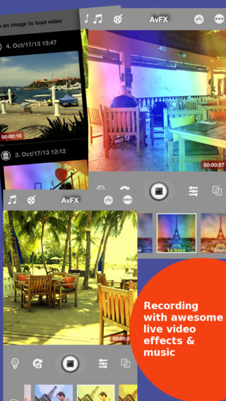 AvFX - awesome video effect & background music edit for Instagram, Facebook, Youtube