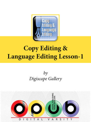 DPUB - Copy Editing and Language Editing - Lesson 1 editing marks