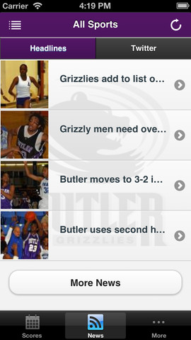 Butler Grizzlies Front Row