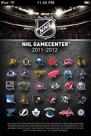NHL GameCenter 2011-2012 2.0501
