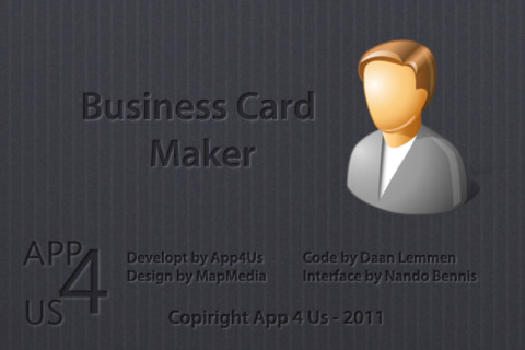 Business Card Maker App for iPad iPhone Business