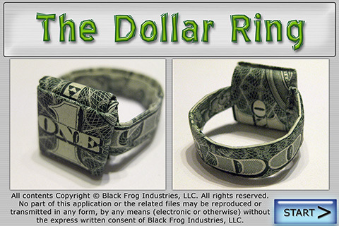How To Do Origami Dollar Ring