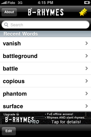 B-Rhymes Dictionary 1.5.5