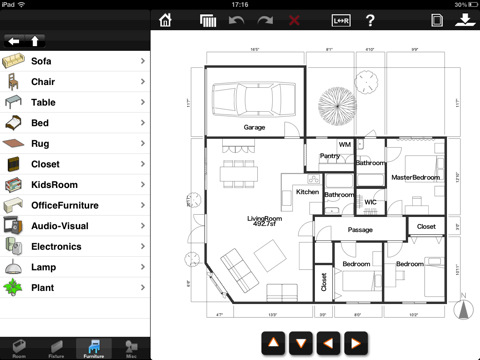 Room Design For IPad App For IPad IPhone Productivity
