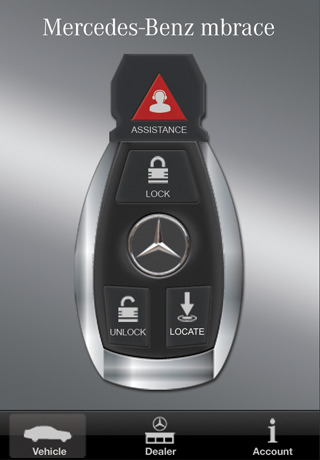 mercedes benz mbrace app for ipad iphone utilities