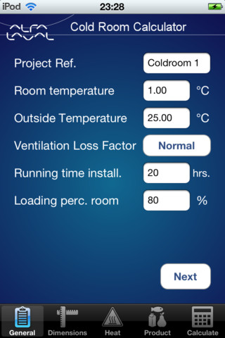 Refrigeration alfa laval industrial refrigeration for Cold room design calculations xls