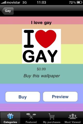 Screenshots Gay Gifts & Wallpapers