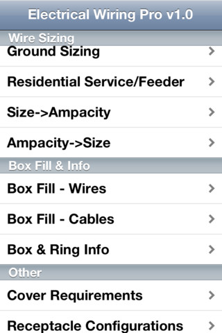 WatFile.com Download Free ElectricalWiringPro App for iPad - iPhone - Productivity