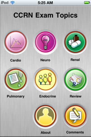 Logo for CCRN Review App for iOS