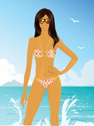 Beach Girl Dress Up HD App for iPad - iPhone
