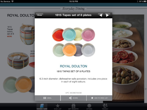 wedding or in the bridal party, use The Bay Gift Registry iPad app ...