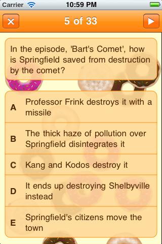 Simpsons Trivia Quiz