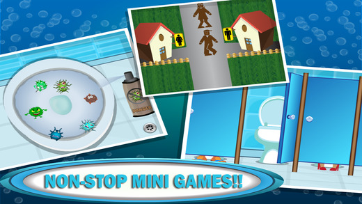 Bathroom Mini Games – Crazy & Funny Doodle Games with Silly Hilarious Time Pass Restroom & Toilet Adventures fun ipad mini games
