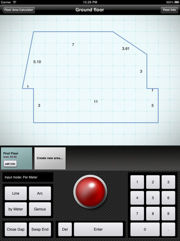 Calculating area and perimeter of shapes images frompo for Floor area calculator
