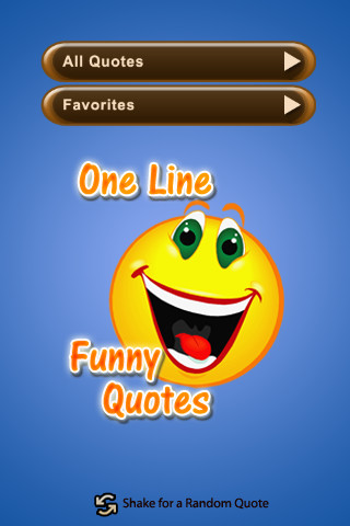 Funny one line quotes of the day