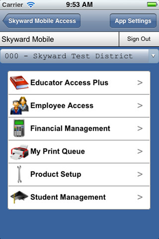Skyward Mobile Access
