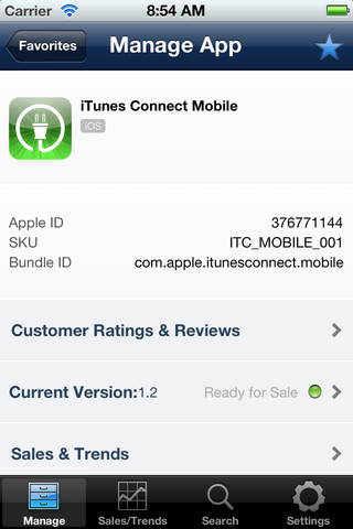 iTunes Connect Mobile
