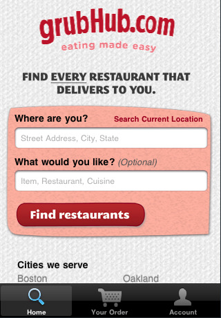 Seattle Food Delivery App