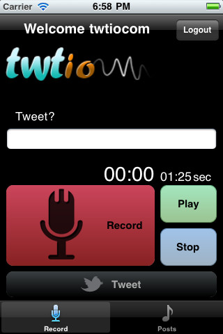 Twtio Audio Recording