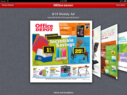 Office Depot® Weekly Ad projector screen office depot