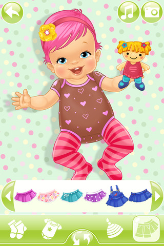 Browse the wide selection of stylish clothes and choose the outfit you like best for this baby in this fun online dress up game for girls. How to Play Cute Baby Dressup Use your mouse to .