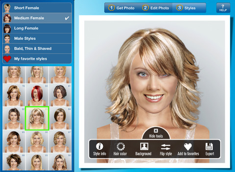 Hairstyle App additionally Virtual Makeover App additionally Hairstyle ...