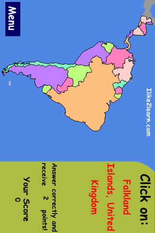 South America Map Quiz App for iPad iPhone Education