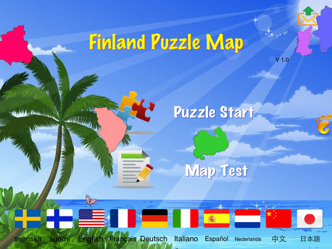 Finland Puzzle Map