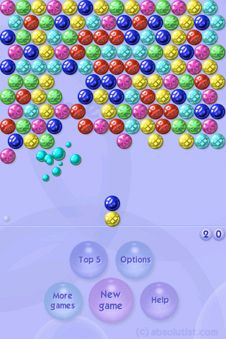 app bubble shooter