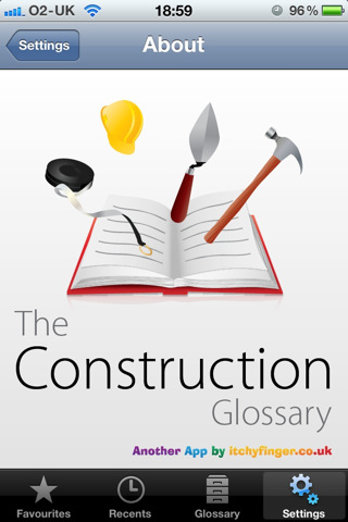 Construction glossary app for ipad iphone business for Construction terms dictionary